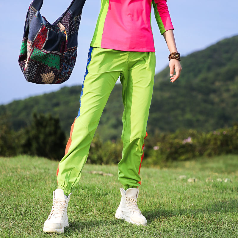 custom wholesale green colorful summer outdoor women trek hiking pants