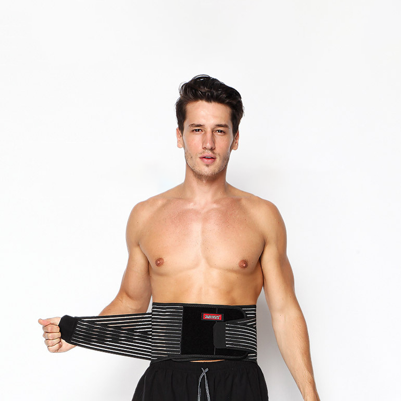 sports steel plate waist belt fitness weightlifting support pressure protection with back support
