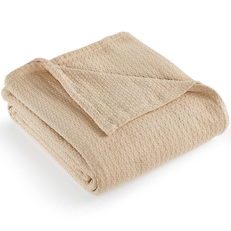 100% Cotton Woven Throw Blanket