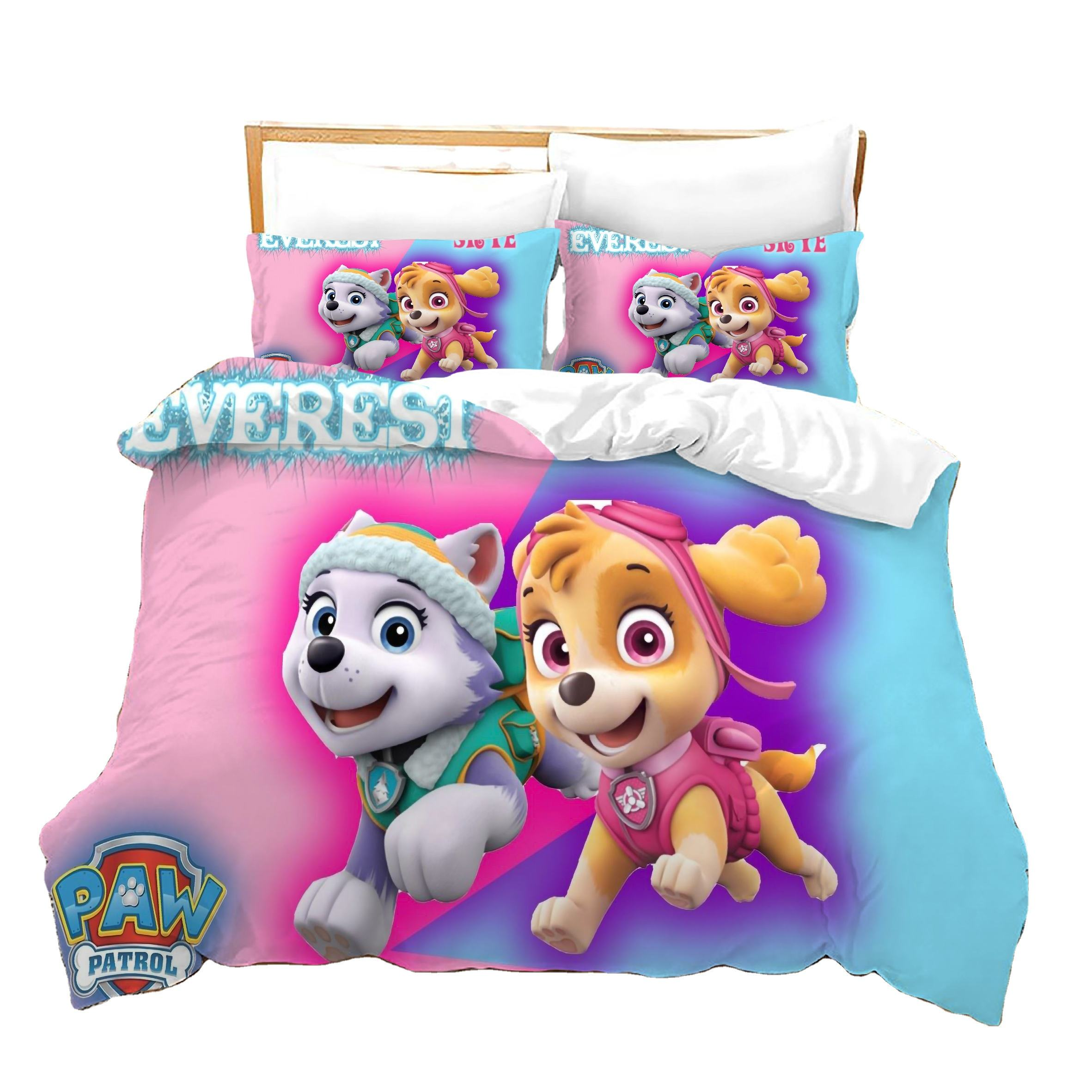 Top Quality Kids Bedding Set Beautiful Design 3d Duvet Cover Set WOW DOG 2nd Bed Sheets From China