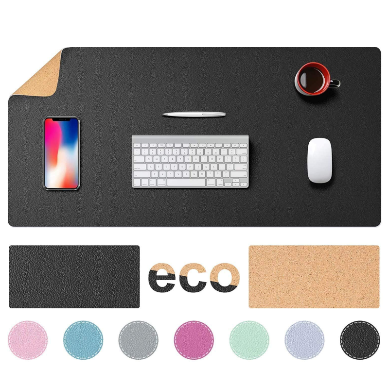 2020 Multifunctional Office Desk Pad, Ultra Thin Waterproof PU Leather Mouse Pad, Dual Use Desk Writing Mat