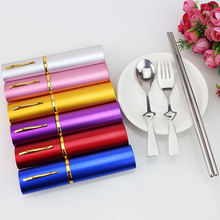 Travel retractable collapsible telescopic foldable metal stainless steel titanium chopsticks in case