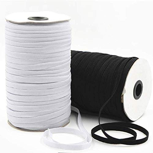 3mm White Flat Band Cord Braided Elastic Cord String