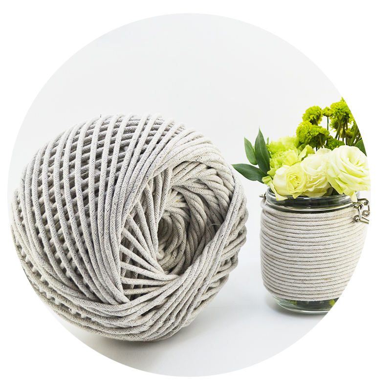 Custom surrounding edge of cotton rope 3 mm white sofa mattress cod line modelling braided rope with a sofa