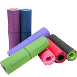 High quality 8 mm factory price direct sales TPE yoga mat with position guide mark