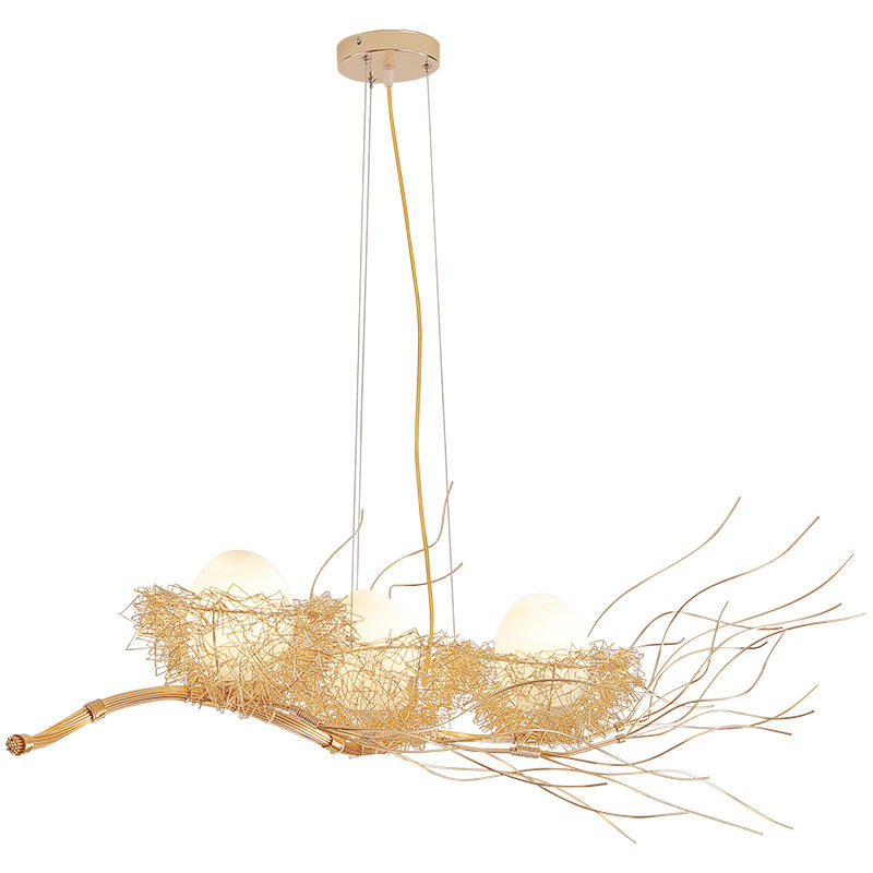 Nordic Modern Art Bird Nest Chandelier Simple Restaurant Creative Branch Bird Nest Restaurant Bedroom Light Bar Lamp