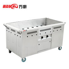 Electric Fast Food Warmer Trolley Stainless Steel Buffet Bain Marie/Food Transport Cart for Restaurant Cooking Equipment Factory