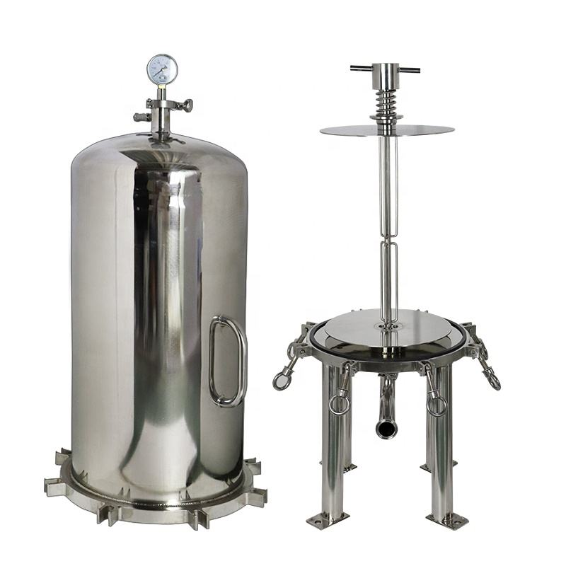 "TS Filter Supply Sanitary Stainless Steel 5 Micron Depth Stack Membrane Housing 16"" Stack Disc Lenticular Filter"
