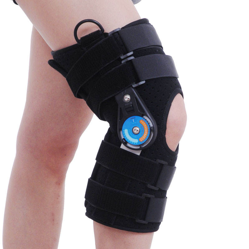 2020 New Arrival Hinged Knee Brace Small Comfortable Post Op Rom Knee Orthopedic Support Brace