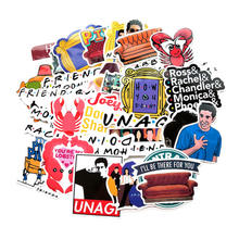vsco 100pcs meme stickers Friends letter anime vinyl decal diy sticker for laptop Luggage gift scrapbooking