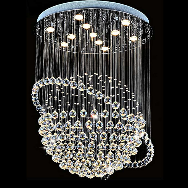 "Led crystal light round living room bedroom lamp Satellite globe Diameter 30""/ 80CM, Height 47""/ 120CM pendent lamp"