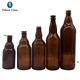 OSHOW most popular wholesale 330ml Amber Bear Glass Beer Bottles