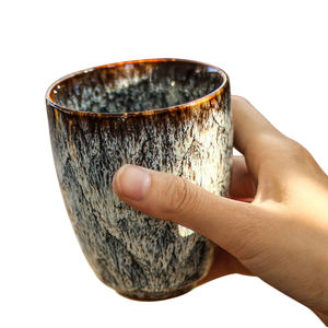 New Arrivals 250ml Japanese Style Pottery Tea Coffee Cup Arabic Coffee Cups Ceramic Mate Ground Yerba Mate Cup