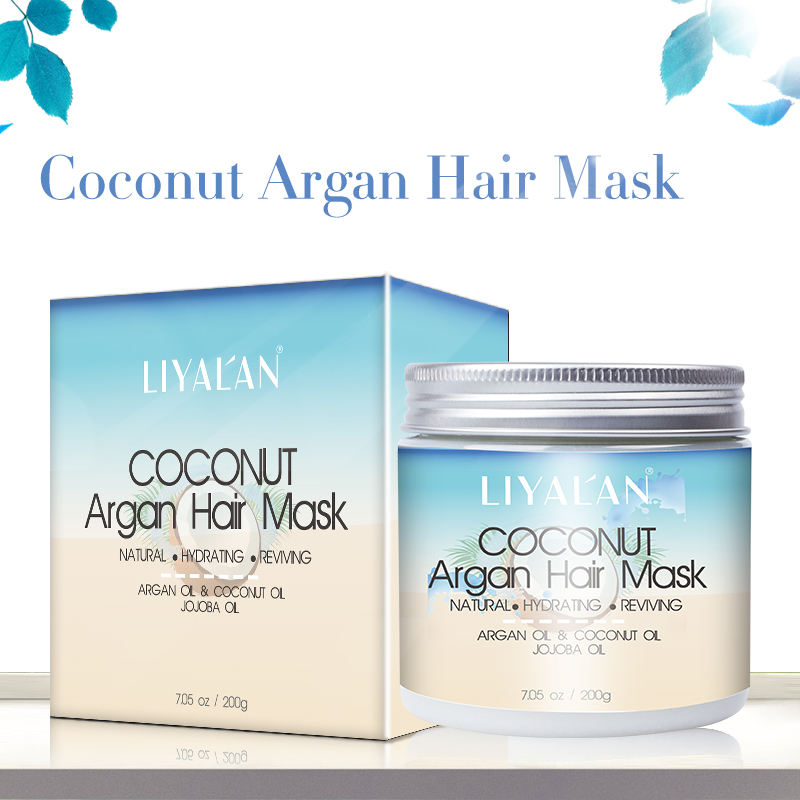 Private Label natural Organic Hydrating conditioner collagen keratin repairing coconut Argan Oil Hair Mask