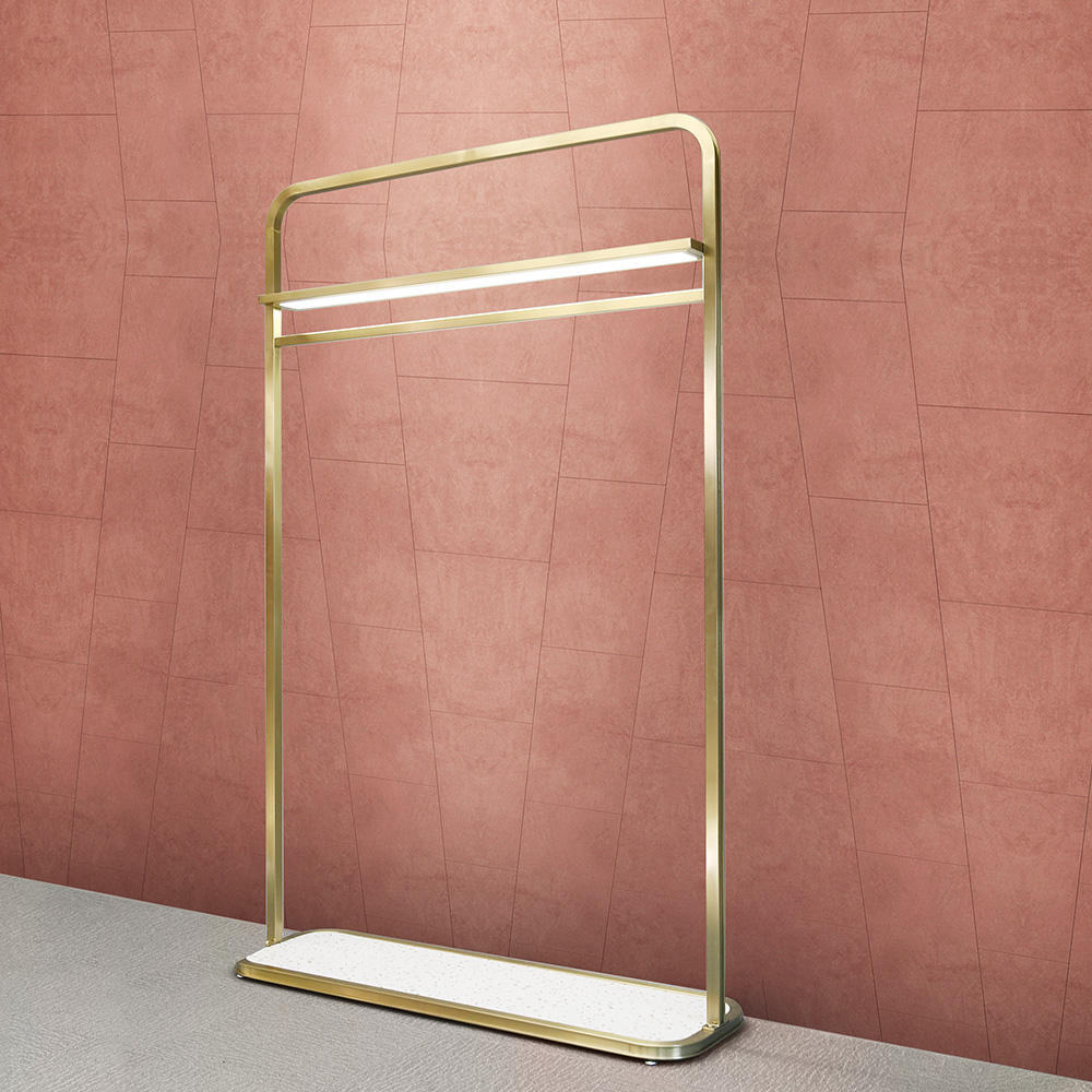 Clothes Hanging Stand Shop Interior Design Clothing Display Furniture Heavy Duty Clothes Rail for Retail Fashion Clothes