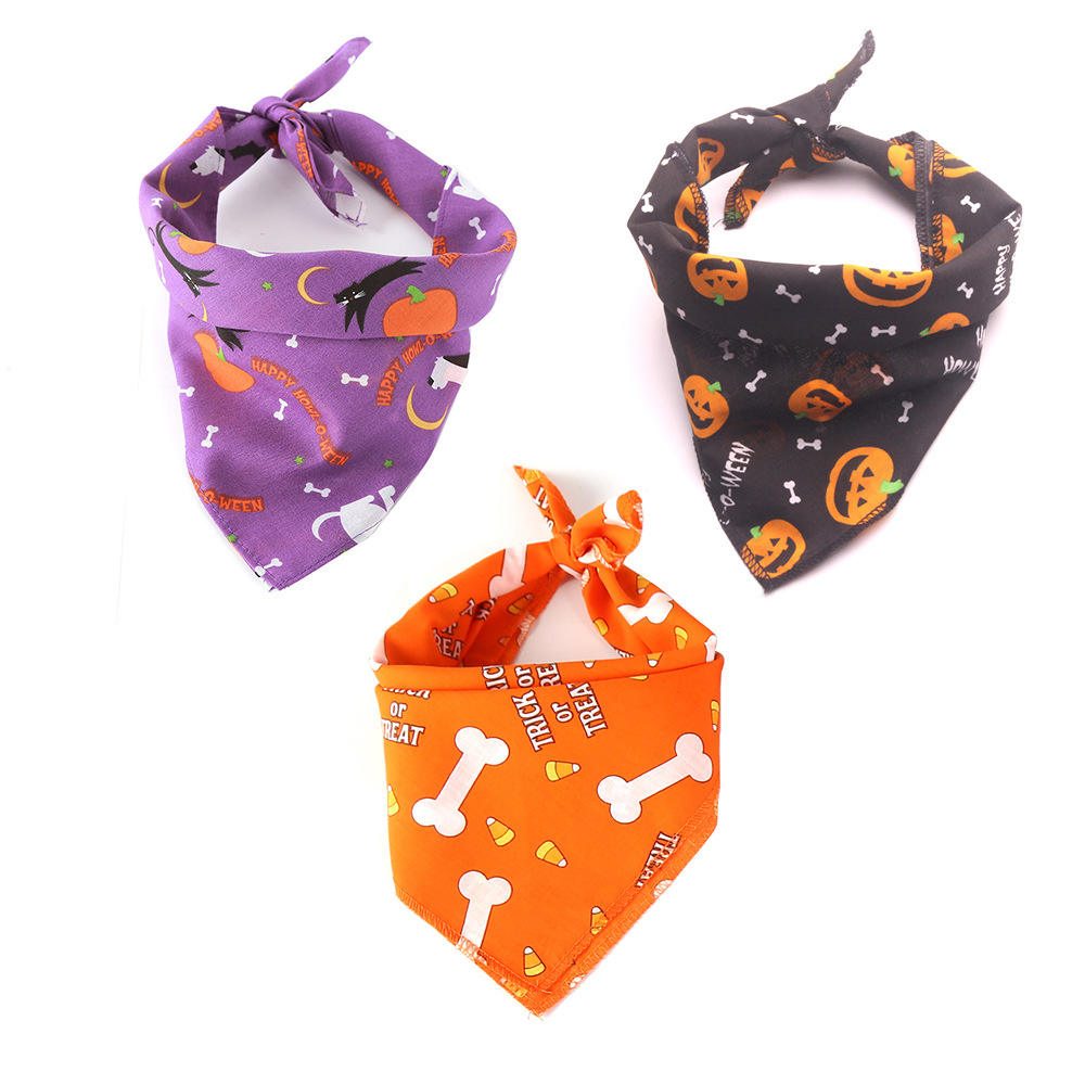 Customized Pet Halloween Luxury Dog Bandana