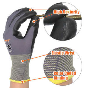 Construction Protection Industrial Hand Work Nitrile Foam Gloves