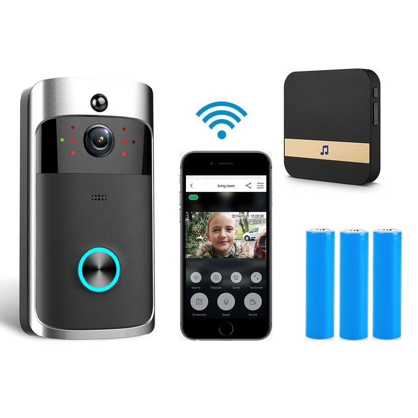 Smarthome Wifi Video Doorbell Original V5 Security Sonnette Campai Night Vision Draadloze Deurbel Door Phone Wireless Camera
