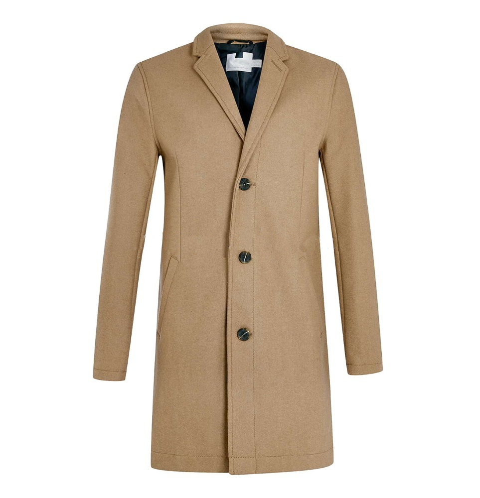 OEM luxury Italy top brand style mens Camel Wool Blend Overcoat jackets coats