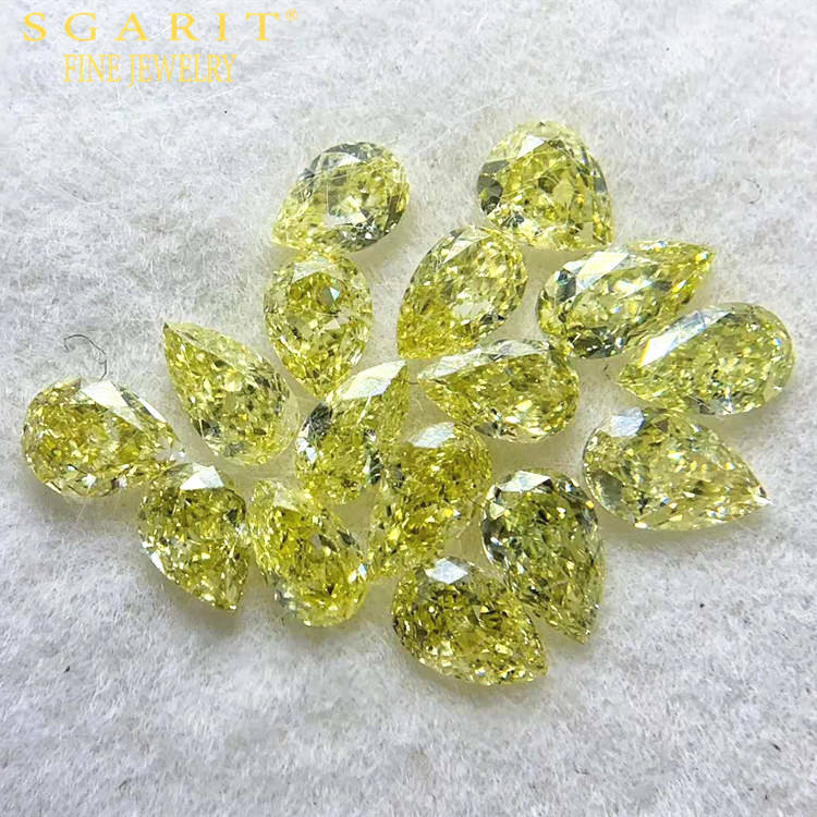 SGARIT factory wholesale high quality bulk color diamond for jewelry 3.591ct VS-SI fancy yellow natural loose diamond