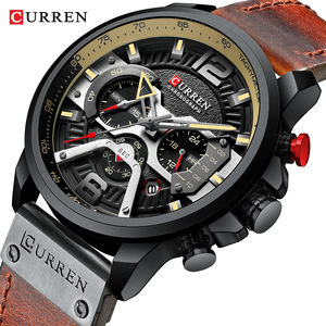 CURREN 8329 Quartz Tactical Watches men wrist Sport Hot Sale Luxury Brand Leather Band Watches Fashion Chronograph Wristwatch