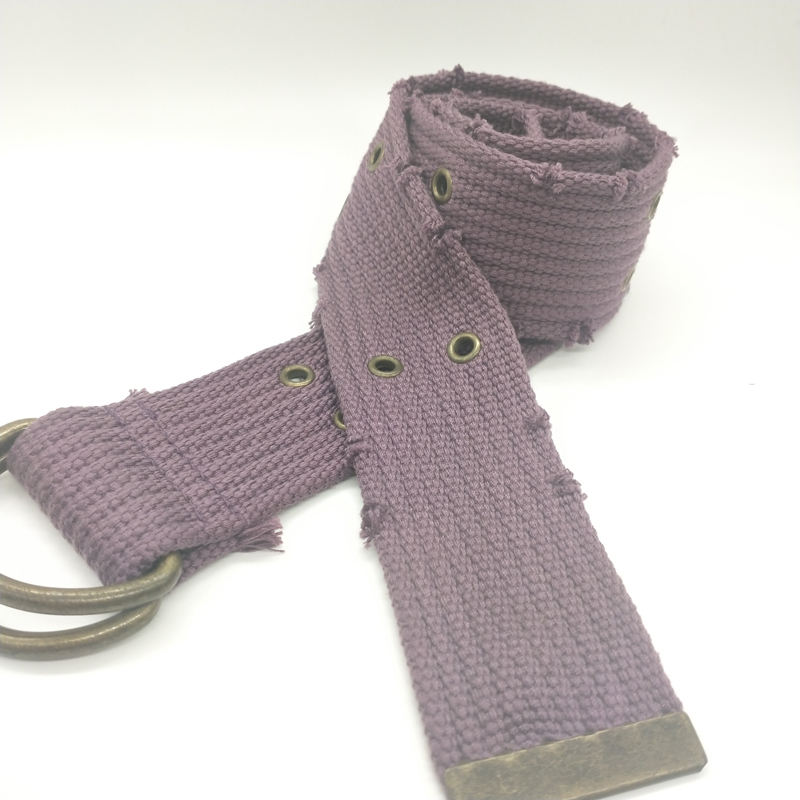 Wholesale new sale customized designable single colour 100% polyester Canvas belt for women and man