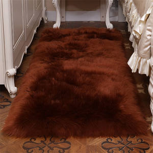New design wool carpet roll made in China New Fluffy Sheep Skin Rug Soft Faux Fur Mats sheepskin synthetic fur carpet for living