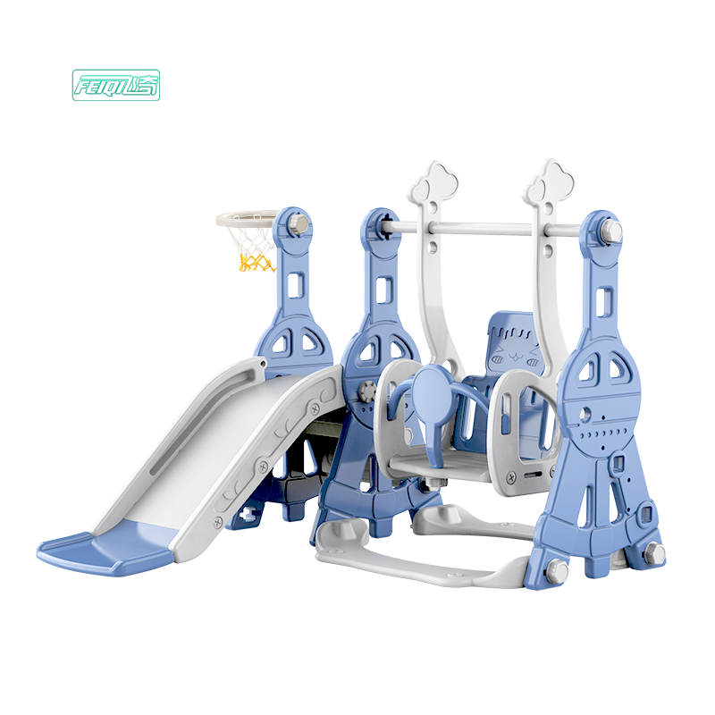 Feiqitoy L-MZ001 high quality children indoor popular toy baby plastic slide and swing