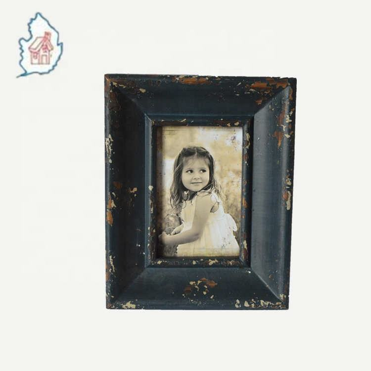 4x6 inch black picture photo frame in rustic finishing