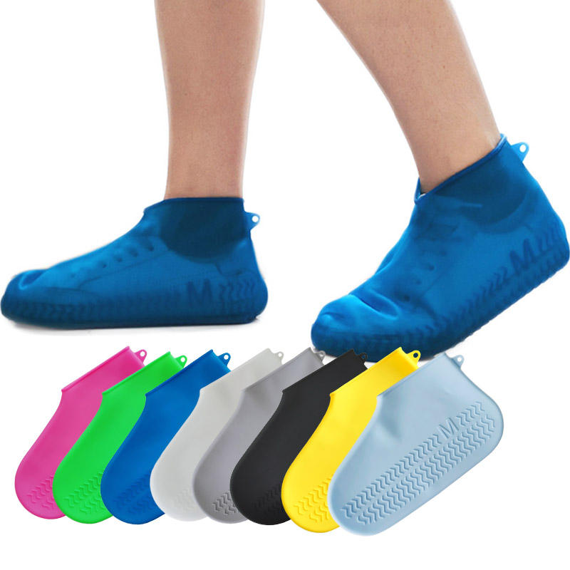 Silicon Protective Rain Shoes Cover Anti-slip Reusable Rubber Waterproof silicone shoe cover