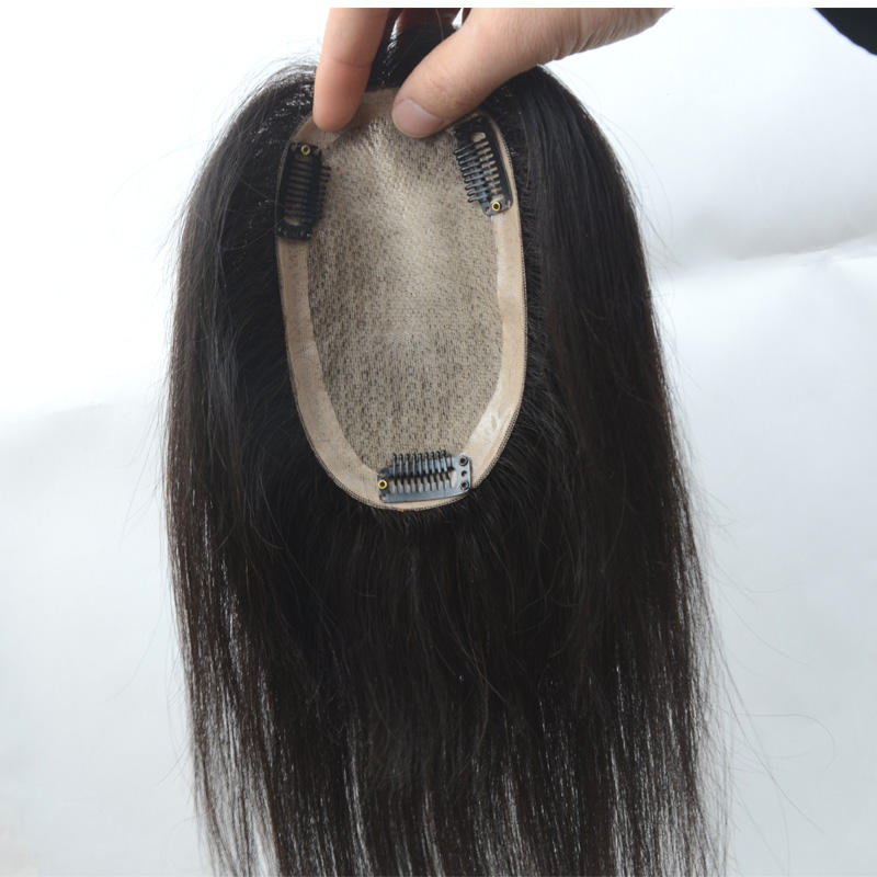 women topper silk top base remy hair replacement real human hair womens long hair stock toupee