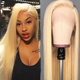 China lace wig vendors wholesale cheap price good quality Russian blonde 613 human hair lace front wig
