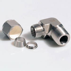 SS316 Stainless Steel Double Ferrules Pria Siku Fitting Tube