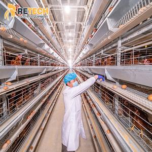Total Automatic Chicken Layer Battery Breeding System Poultry Cages Manufacturers