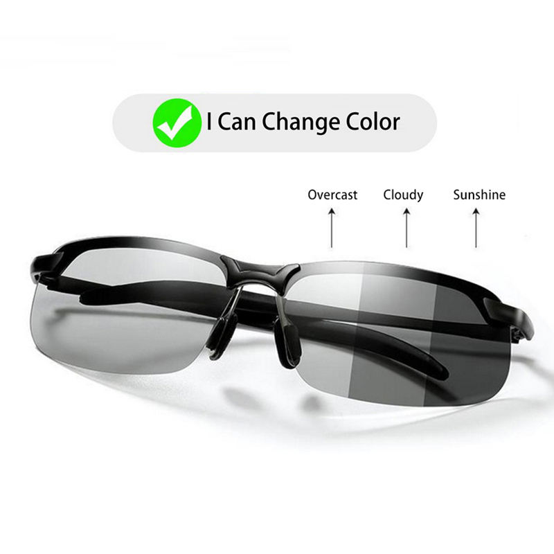 Photochromic Sunglasses Men Polarized driving Chameleon Glasses Male Change Color SunGlasses Day Night Vision Driving Eyewear