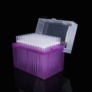 96 tips / box lab filter sterilized pipette tips with box