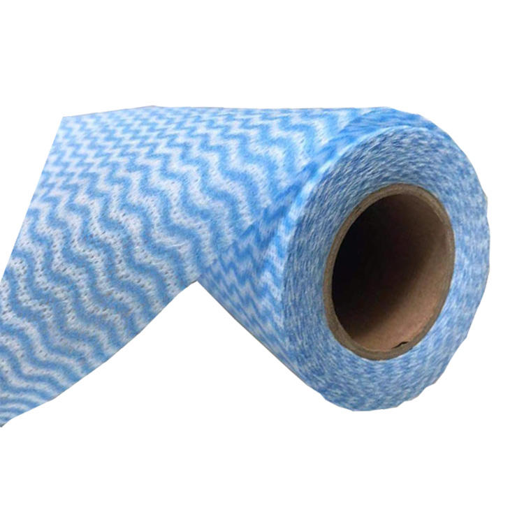 Blue nonwoven Fabric Cleaning Cloth Roll All Purpose Wiping Paper