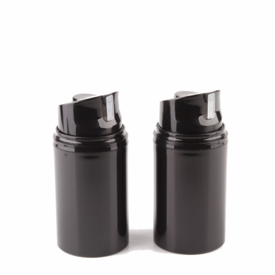 High Quality 50ml Black Plastic PP Lotion Airless Pump Bottle