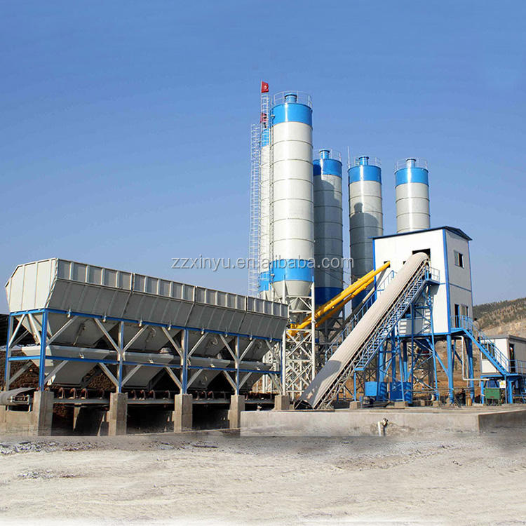 Low price readymix HZS90 concrete batching plant for sale