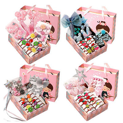18 Pcs/box Gift Box Kid Hairpin Headband Gift Baby Girls Hairbands Hairclip Hair Barrettes Children's Day Gifts