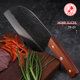 DENGJIA Handmade Slicing Meat Cleaver Color Wood Handle Craft Chinese Kitchen Knives Forged Chef Knife Vegetable Knife