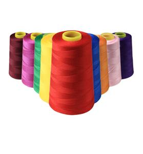 Dope dyed sewing thread for textile