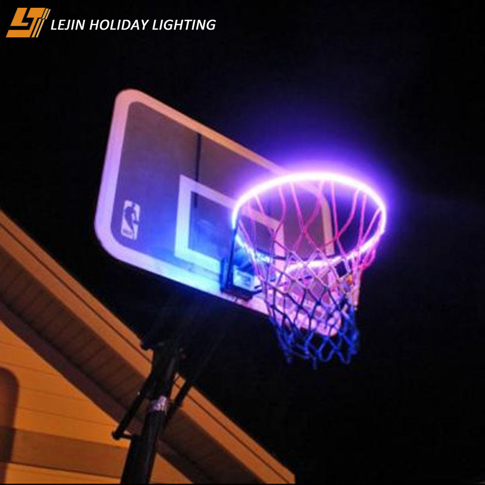led strip light outdoor induction basketball rim light light Up the Basketball Hoop