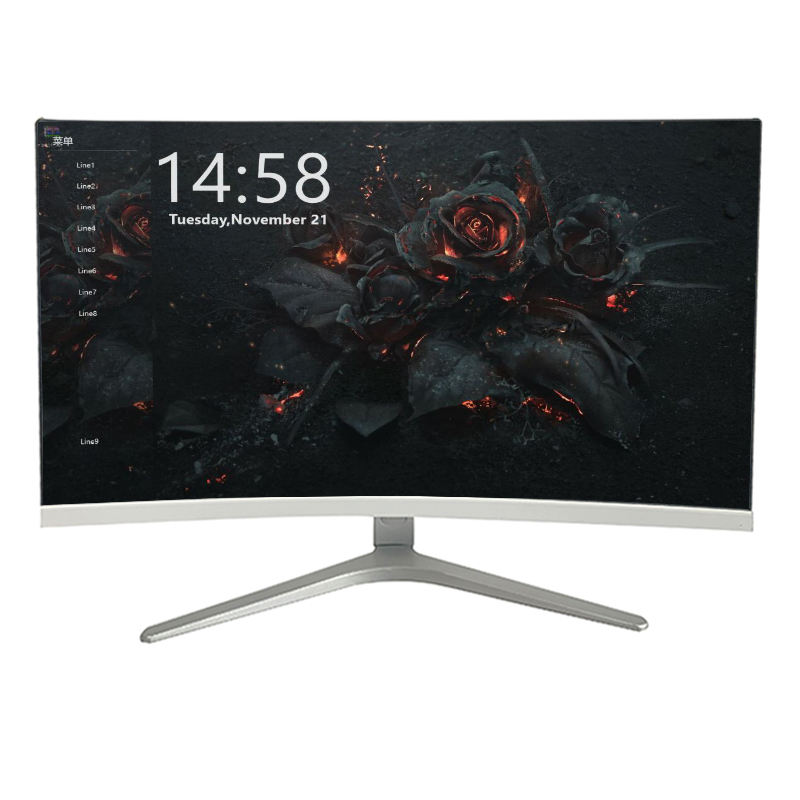 factory direct 24/27 inch pc gaming display curved 144hz monitor led screen wall- mount monitor