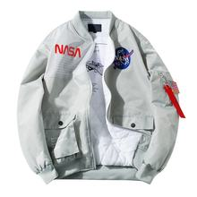 Factory Custom Wholesale Baseball Style Hip Hop Men Nasa Bomber Jacket