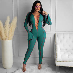 Custom Lucky Label Plus Size Sexy V-Neck Mesh Bodysuits Corset Rompers Spring Breathable One Piece Jumpsuits Women 2021