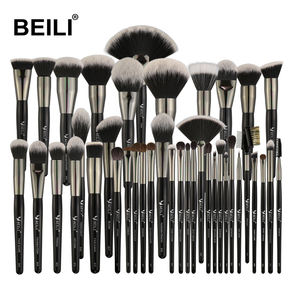BEILI brush sets makeup 40PCS Black Makeup Brushes Kits Wood Handle Box Packing Accept Private Label Customize makeup brush set