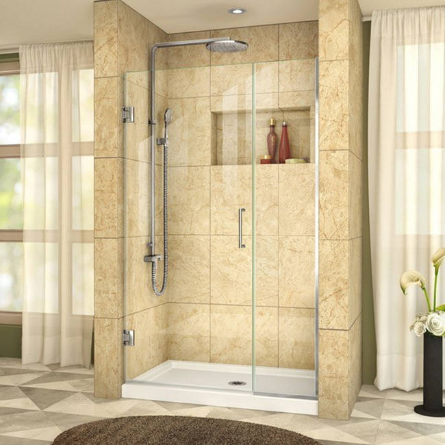 Hotel/house/gym glass corner shower enclosure frameless design