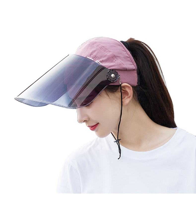 Sun hat for women in summer uv protection sun hat for outdoor cycling half a head to cover the face of the hat