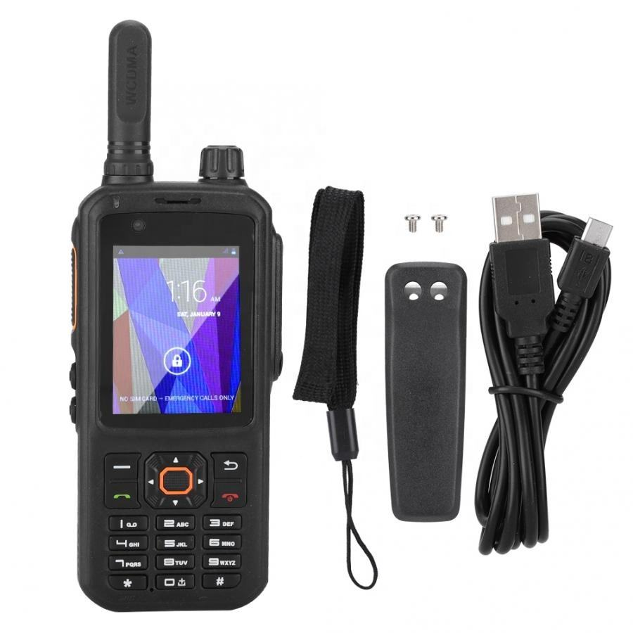 Zello ptt walkie talkie sim card wifi walkie talkie 500km Poc di rete radio bluetooth Walkie + Talkie T298S